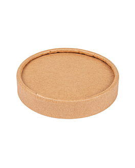 lids for ice-cream tubs 120 ml 280 + 18 pe gsm Ø7,7 cm brown cardboard (1000 unit)