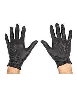 guantes size: m negro nitrilo (100 unid.)