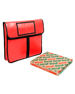 sac transport pizza 41 cm 43x45x13 cm rouge vinyl (1 unitÉ)