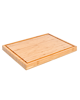 cutting board 40x30x3 cm natural bamboo (1 unit)