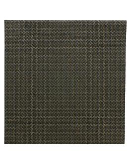 servilletas 'elegance' 55 g/m2 40x40 cm negro airlaid (700 unid.)