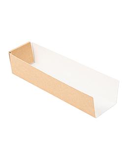 vaschette hot dog 'thepack' 220 g/m2 4,7x18,2x4 cm naturale cartone ondulato a nano-micro (1200 unitÀ)