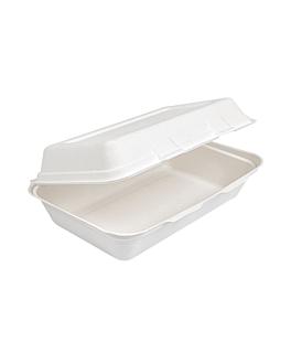 """caixas """"l"""" 'bionic' 1 l 16x24x7,5 cm branco bagaÇo (400 unidade)"""