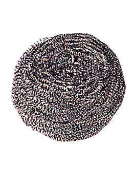 paglietta abrasiva professionali 40 gr 7 cm argento acciaio inox (12 unitÀ)