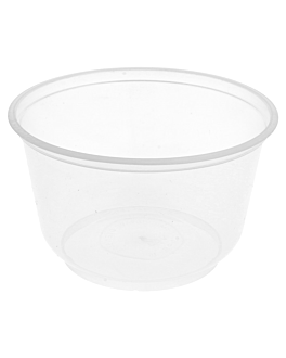 injected bowl microwaveable 475 ml Ø 11,5x7,2 cm clear pp (500 unit)