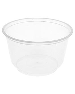 bols injectÉs micro-ondable 475 ml Ø 11,5x7,2 cm transparent pp (500 unitÉ)