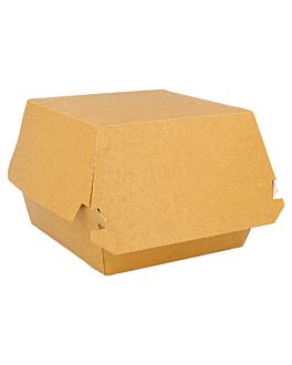 conchas hamb. gourmet 300 g/m2 15,5x14,5x9,5 cm marrÓn cartoncillo (50 unid.)
