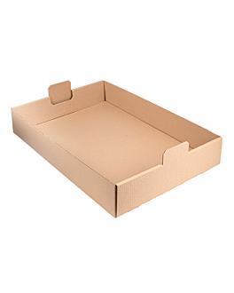 """plateaux """"traiteur"""" 62x43,5x9,5 cm havane kraft (50 unitÉ)"""