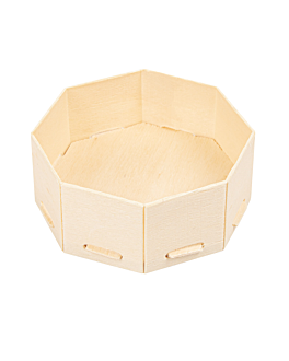 mini containers for appetisers 8x8x3,5 cm natural wood (200 unit)