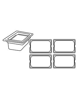 behÄlter gastronorm 1/4 3,8 l 26,5x16,2x15 cm transparent polykarbonat (1 einheit)