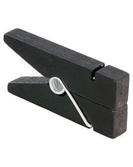 12 pinze porta lavagna 1,3x3,8x8,3 cm nero legno (1 unitÀ)