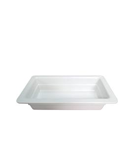 bacs gn 1/3 6,5 (h) cm blanc melanine (6 unitÉ)