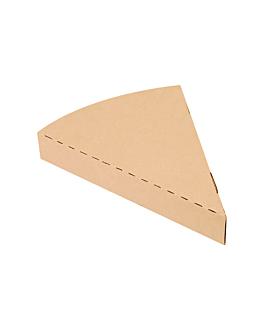 contenitori triangolare pizza 'thepack' 220 g/m2 18x23x3 cm naturale cartone ondulato a nano-micro (400 unitÀ)