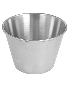 ramekins 120 ml Ø 7,5x5 cm silver stainless steel (12 unit)