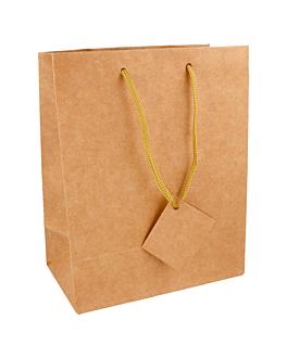 10 u. bolsas boutique, asa cordÓn 175 g/m2 18+10x22,7 cm natural kraft (1 unid.)