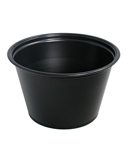 small microwavable containers 120 ml Ø7,4x4,6 cm black pp (2500 unit)