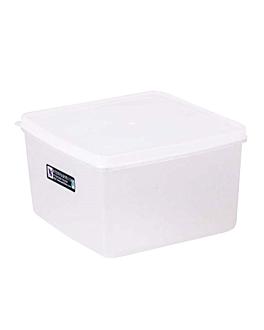 recipiente per alimenti + coperchio incluso 2500 ml 18,5x18,5x11 cm bianco pp (1 unitÀ)