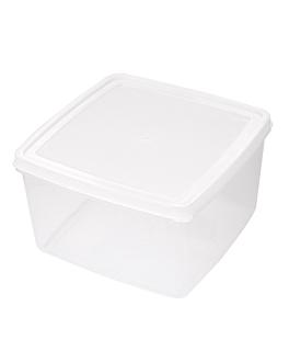 rÉcipient aliments + couvercle incorporÉ 2500 ml 18,5x18,5x11 cm blanc pp (1 unitÉ)