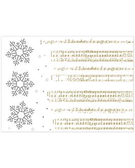sets de table 'new snow' 48 g/m2 31x43 cm blanc cellulose (2000 unitÉ)