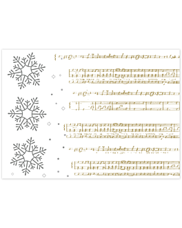 mantelines 'new snow' 48 g/m2 31x43 cm blanco celulosa (2000 unid.)