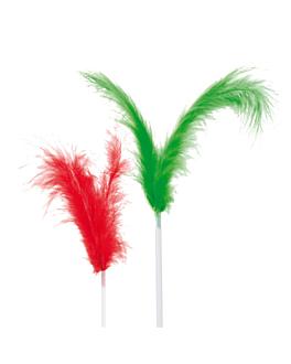 """dÉcorations glaces """"plumes cocktail"""" 17 (h) cm assorti (144 unitÉ)"""