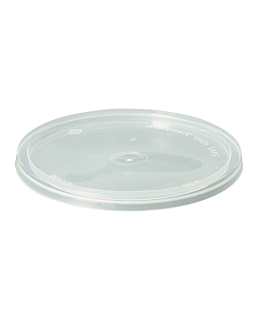 lids for containers items 184.04/ 05/ 06/ 07/12 Ø 12 cm clear pp (500 unit)