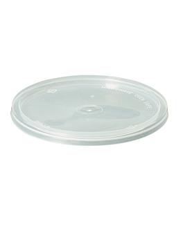 tapas para tarrinas 184.04/05/06/07/12 Ø 12 cm transparente pp (500 unid.)