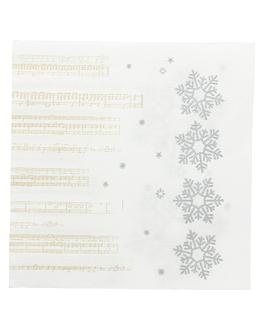 """serviettes """"double point"""" 'new snow' 18 g/m2 33x33 cm blanc ouate (1200 unitÉ)"""