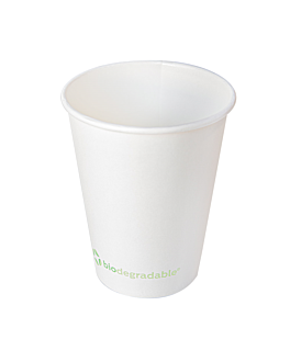 single wall hot drink cups 'biodegradable' 480 ml 280 + 30 pla gsm Ø9/6x13,2 cm white cardboard+pla (900 unit)