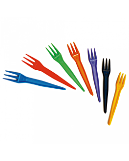 fries forks 8,3 cm assorted ps (5000 unit)