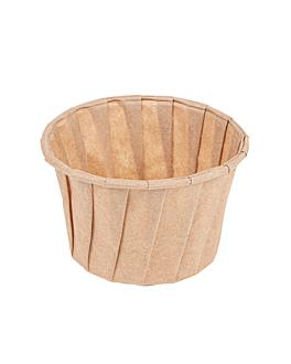 pots traiteur plissÉ 120 ml Ø7,7x5,5 cm naturel parch.ingraissable (250 unitÉ)