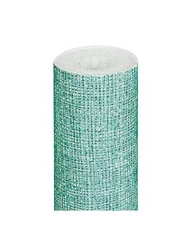 nappe 'like linen - aurora' 70 g/m2 1,20x8 m vert d'eau spunlace (9 unitÉ)