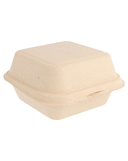 caixas hamburguer 'bionic' 450 ml 15,2x15x8,4 cm natural bagaÇo (600 unidade)