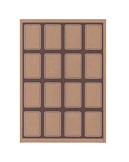 100 feuilles din a4 16 Étiquettes rectangulaires 4,5x6,5 cm kraft (1 unitÉ)