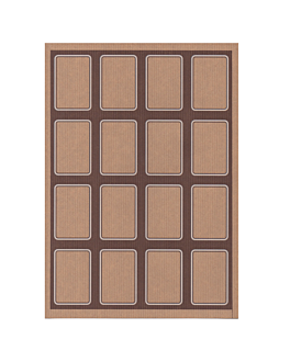 100 fogli din a4 16 etichette rettangolari 4,5x6,5 cm kraft (1 unitÀ)
