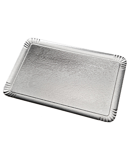 """plateaux """"traiteur"""" deux faces 1100 g/m2 19x28 cm argent/or carton (100 unitÉ)"""