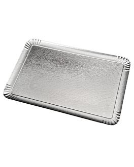 double face traiteur trays 1100 gsm 19x28 cm silver/gold cardboard (100 unit)