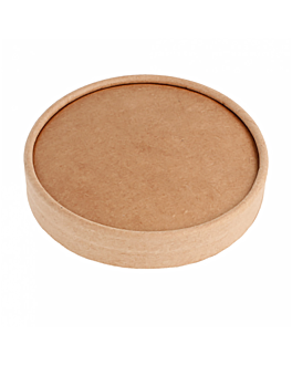 lids for ice-cream tubs 150 ml 280 + 18 pe gsm Ø8,5 cm brown cardboard (1000 unit)