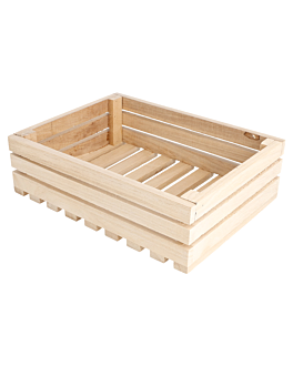 cassa presentazione buffet 20,3x15,2x6 cm naturale legno (1 unitÀ)