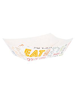 barquettes 'parole' 960 g 250 g/m2 10,5x7,2x4,5 cm blanc carton (200 unitÉ)