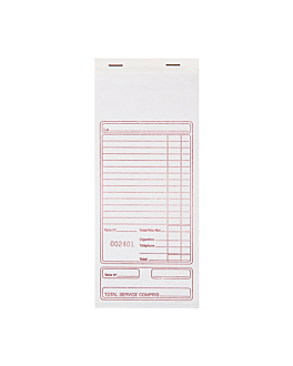self-copying french invoice pads 10x21 cm white paper (140 unit)