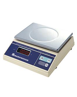 bilancia digitale per porzioni, piattaforma 18x23,5 cm 29x25x9 cm bianco acciaio inox (1 unitÀ)