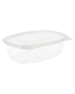 containers + lid 750 ml 17,7x12,5x6,3 cm clear rpet (400 unit)