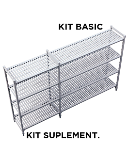 supplementary shelf windshelving 45,5x91x180 cm grey steel (1 unit)