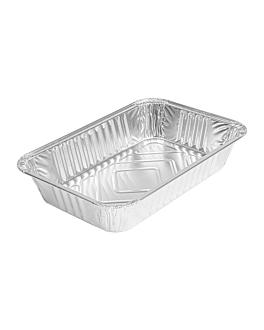 recipientes rectangulares 770 ml 21x14x3,7 cm aluminio (1000 unid.)