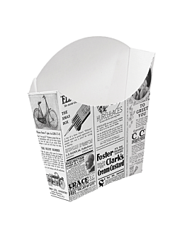 cajetillas fritas standard 'thepack times' 135 g 230 g/m2 13x8x13,5 cm blanco cartÓn ondulado nano-micro (1200 unid.)