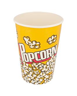 gobelets pour pop-corn 1380 ml 230 +20 pe g/m2 Ø 12,4x17 cm carton (500 unitÉ)