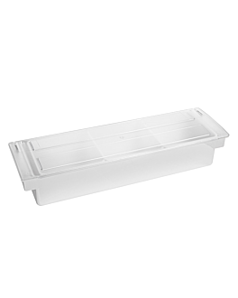 condiment container 3 compart. 49,5x15,7x9 cm chroming ps (1 unit)