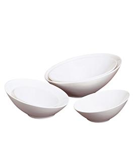 bols irrÉguliers 300 ml Ø 15x7,4 cm blanc porcelaine (6 unitÉ)