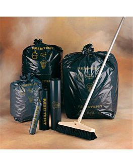 10 u. garbage bags 130 l 70µ 88x115 cm black peld (10 unit)
